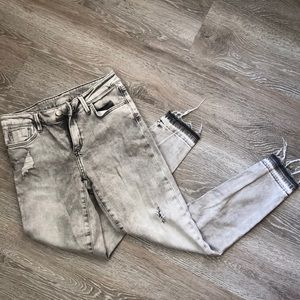 Zara Basic Distressed Gray Denim Z1975